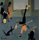 Jacob Lawrence The Bo Lo Game, 1937