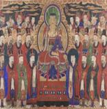 Chichang Bosal (Ksitigarbha Bodhisattva) and the Ten Kings of Hell Korea, late 19th or early 20th century Colors on cloth Gift of Dr. and Mrs. John P. Lyden, 2001  2001.75.1